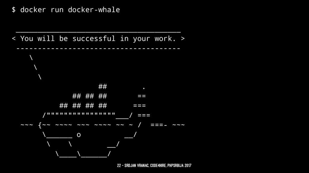 $ docker run docker-whale _____________________...