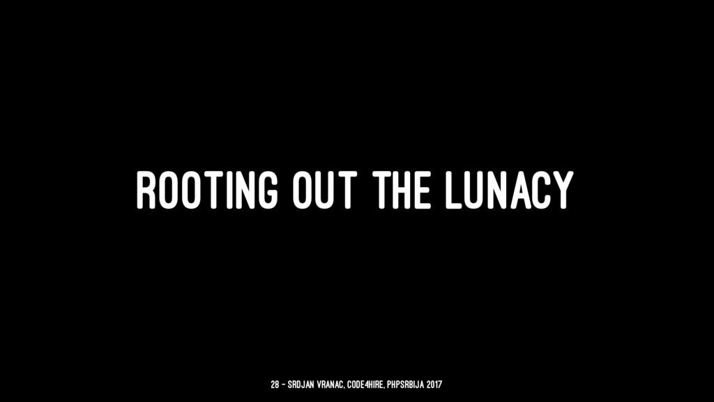 ROOTING OUT THE LUNACY 28 — Srdjan Vranac, Code...