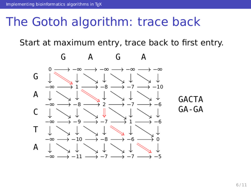 Implementing bioinformatics algorithms in TEX T...