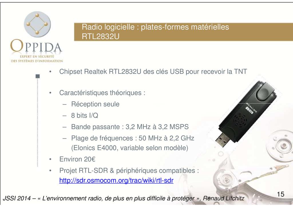 Radio logicielle : plates-formes matérielles RT...
