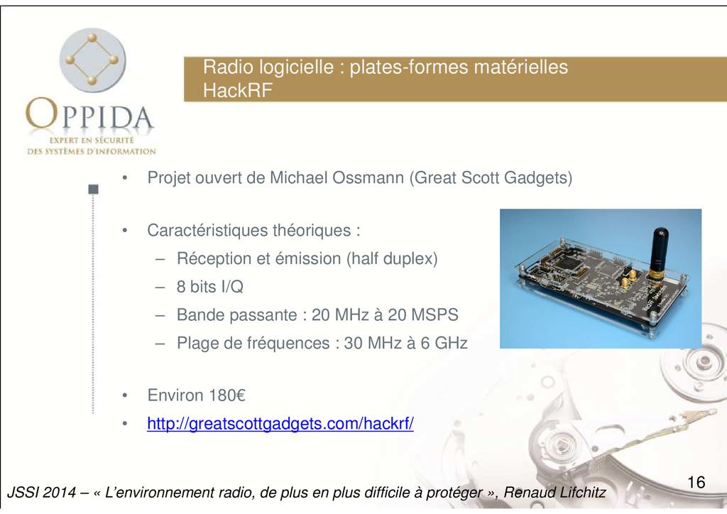 Radio logicielle : plates-formes matérielles Ha...