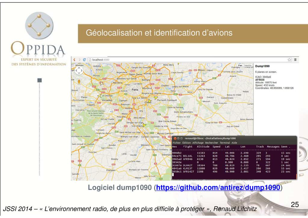 Géolocalisation et identification d'avions 25 J...