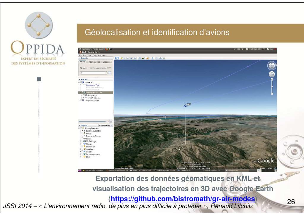 Géolocalisation et identification d'avions 26 J...