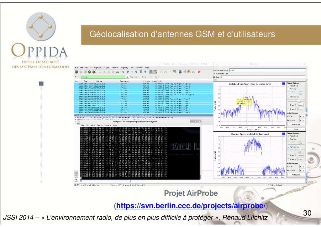 Géolocalisation d'antennes GSM et d'utilisateur...