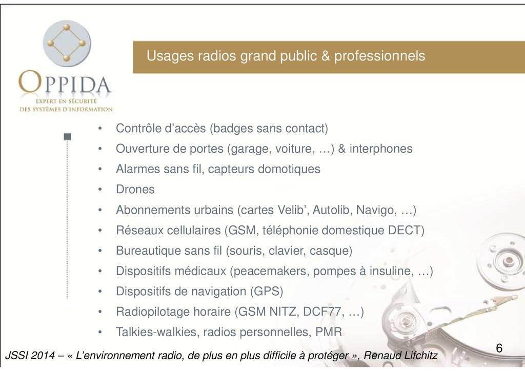 Usages radios grand public & professionnels • C...