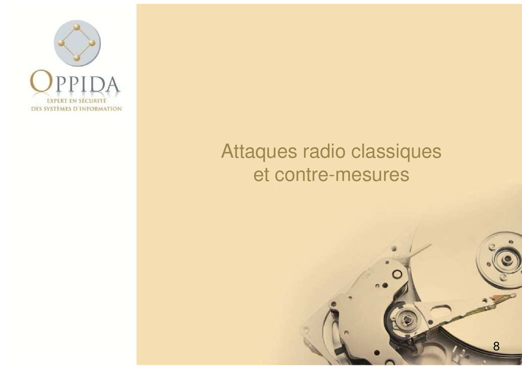 Attaques radio classiques et contre-mesures 8 e...