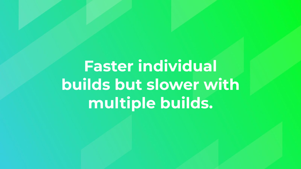 Faster individual builds but slower with multip...