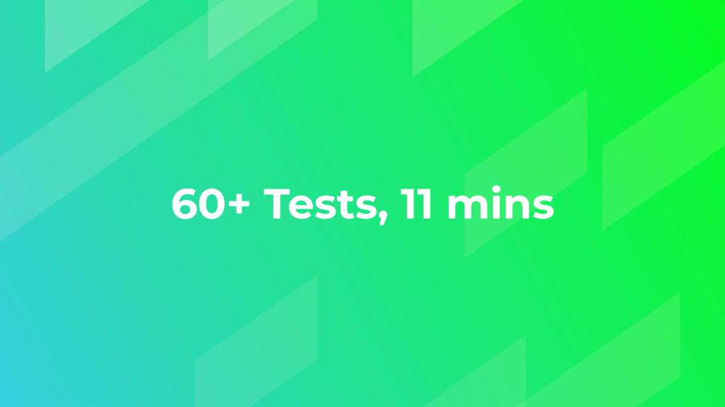 60+ Tests, 11 mins