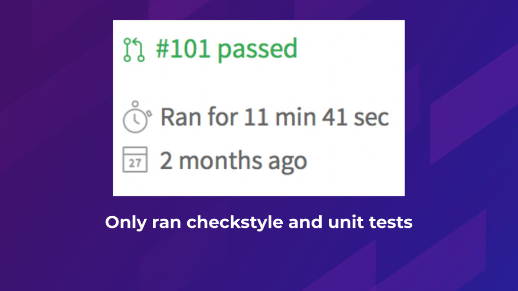 Only ran checkstyle and unit tests