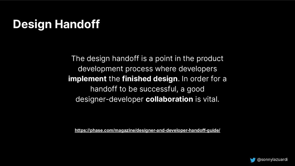 @sonnylazuardi Design Handoff The design handof...