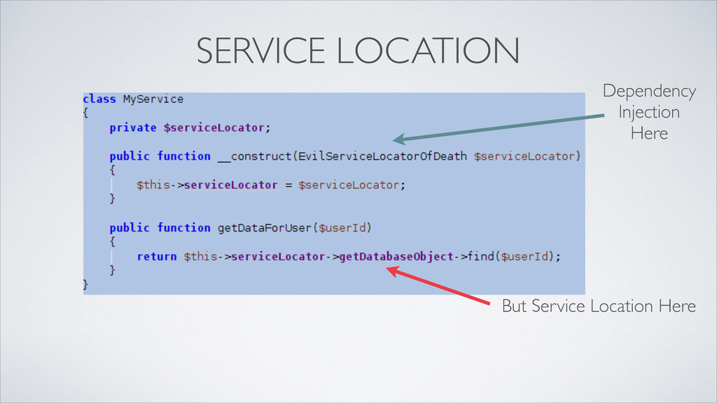SERVICE LOCATION Dependency  Injection  Her...