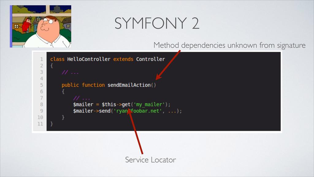 SYMFONY 2 Service Locator Method dependencies u...
