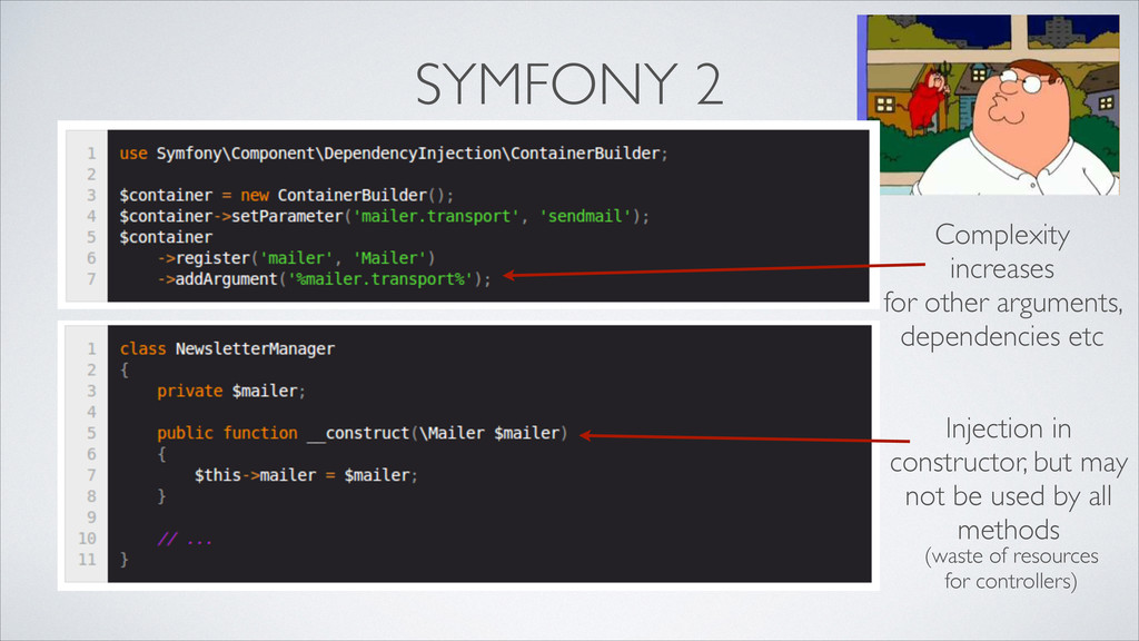SYMFONY 2 Complexity increases  for other arg...