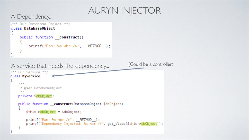 AURYN INJECTOR A Dependency... A service that n...