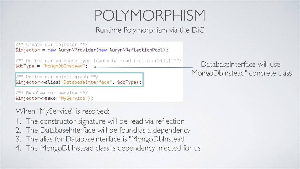 POLYMORPHISM Runtime Polymorphism via the DiC D...