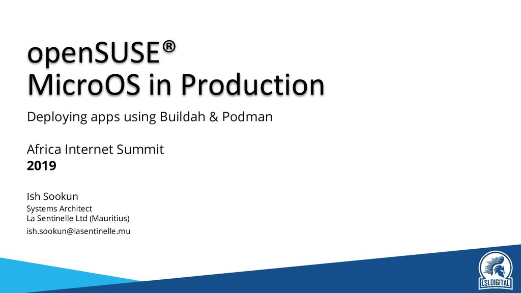 MicroOS in Production Deploying apps using Buil...