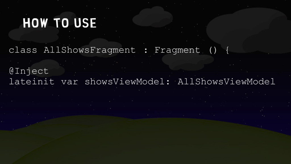 How to use class AllShowsFragment : Fragment ()...
