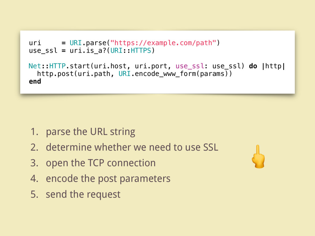 "uri = URI.parse(""https://example.com/path"") use..."
