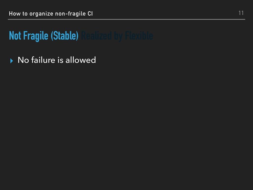 How to organize non-fragile CI Not Fragile (Sta...