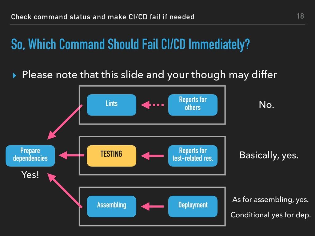 Check command status and make CI/CD fail if nee...