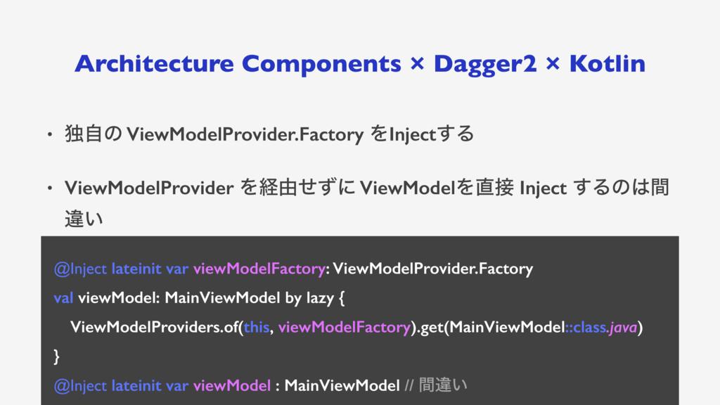 Architecture Components × Dagger2 × Kotlin • ಠࣗ...