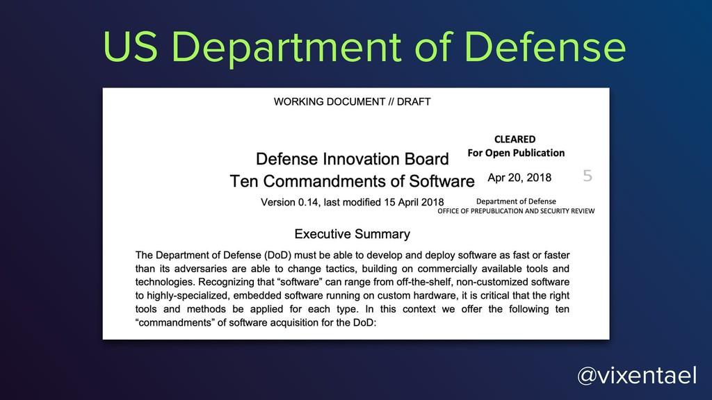 @vixentael US Department of Defense