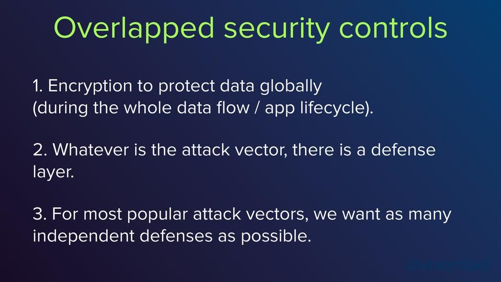 @vixentael 1. Encryption to protect data global...
