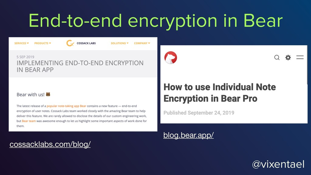 @vixentael End-to-end encryption in Bear blog.b...