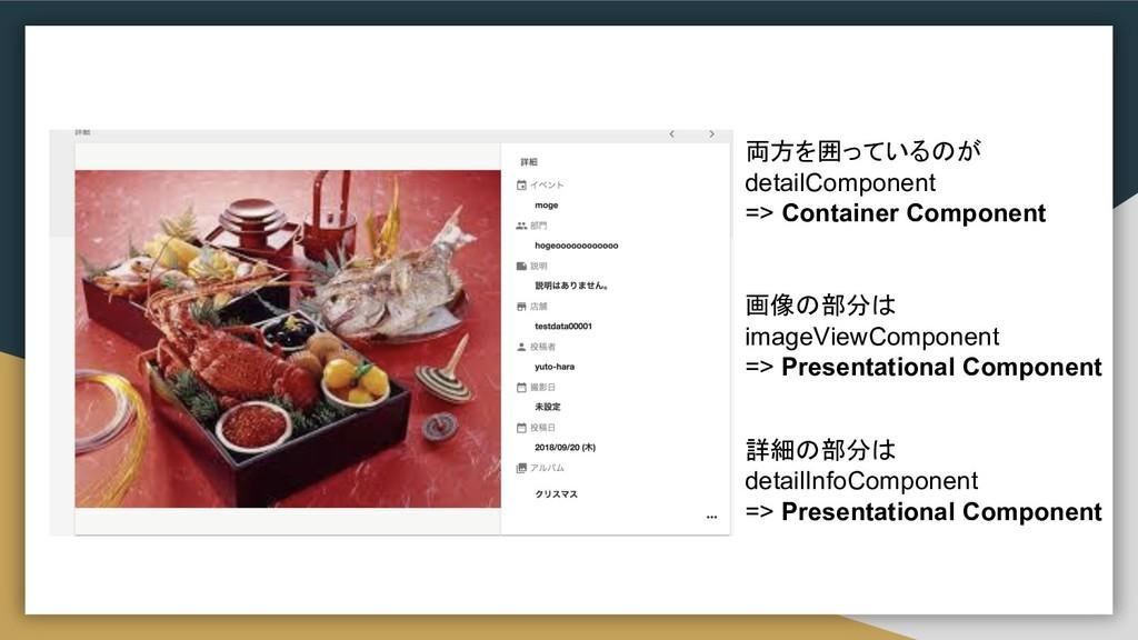 両方を囲っているのが detailComponent => Container Compone...
