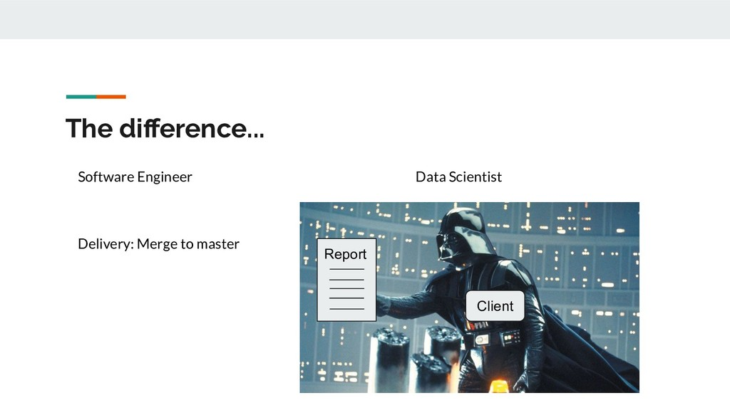 The difference... Client Report Data Scientist S...