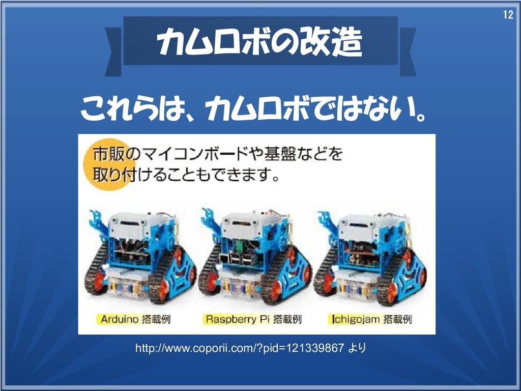 12 カムロボの改造 これらは、カムロボではない。 http://www.coporii.co...