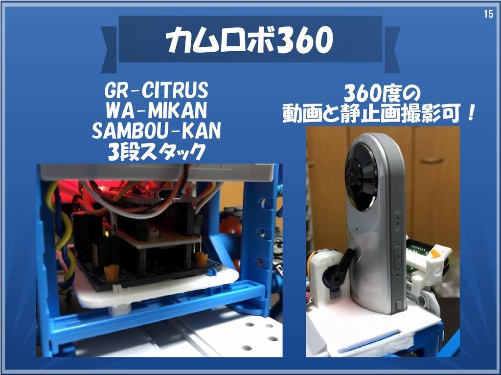 15 カムロボ360 GR-CITRUS WA-MIKAN SAMBOU-KAN 3段スタック...