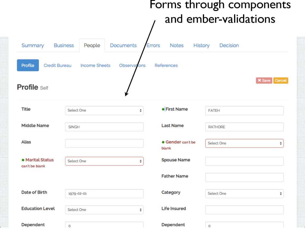 Forms through components and ember-validations
