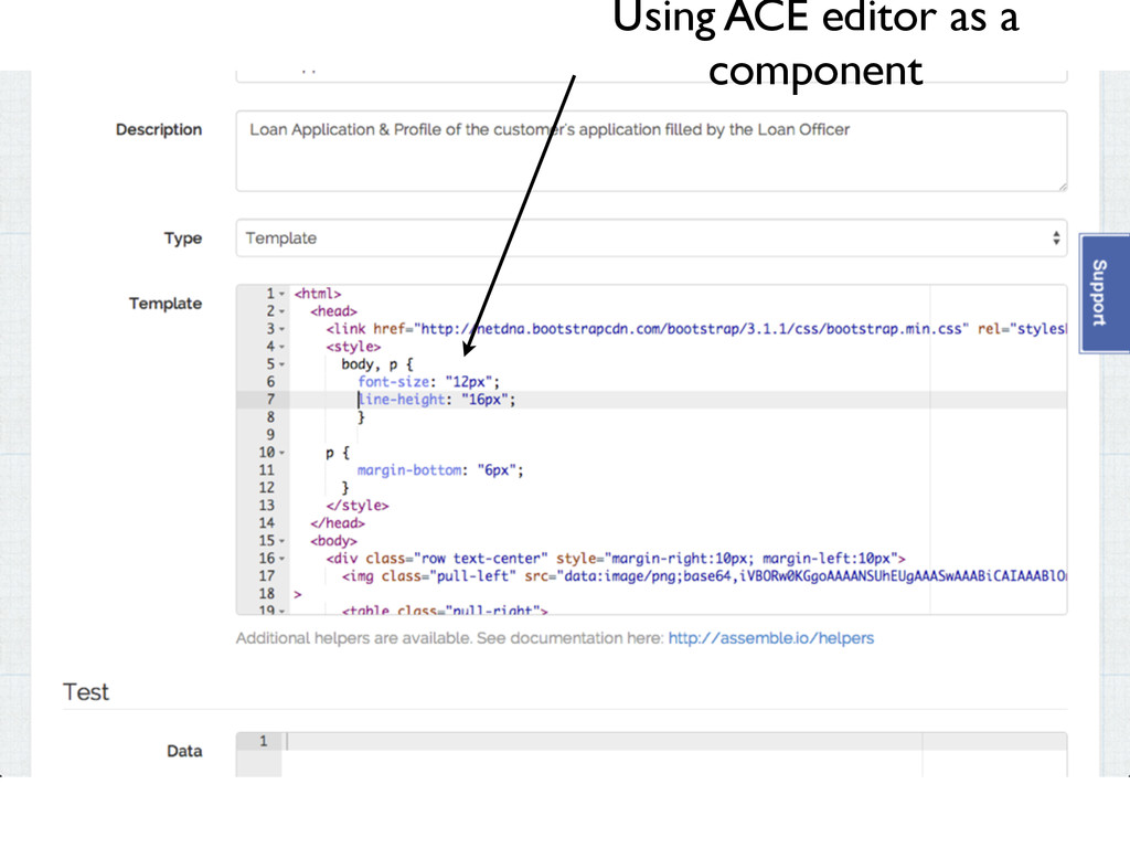 Using ACE editor as a component