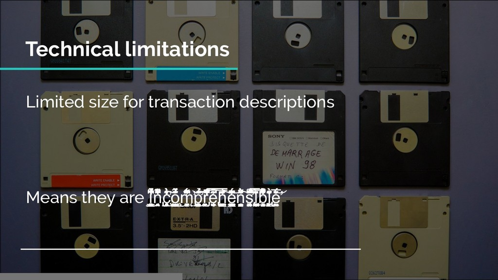 Limited size for transaction descriptions Means...
