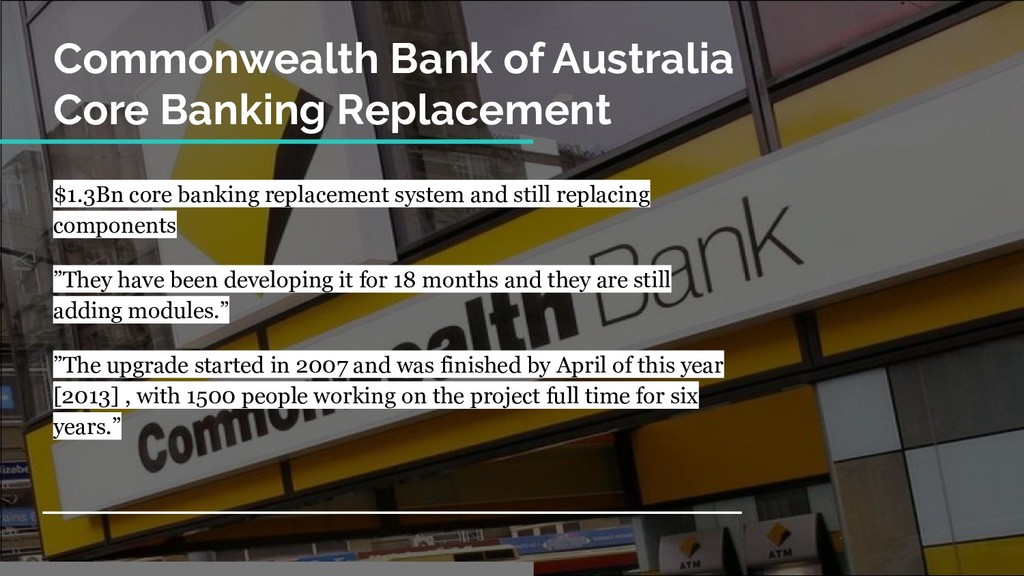 Commonwealth Bank of Australia Core Banking Rep...