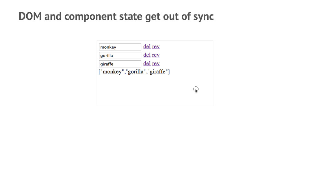 DOM and component state get out of sync