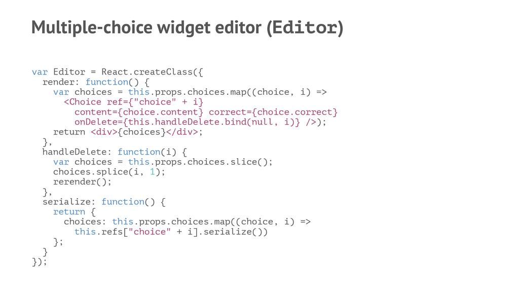 Multiple-choice widget editor (Editor) var Edit...