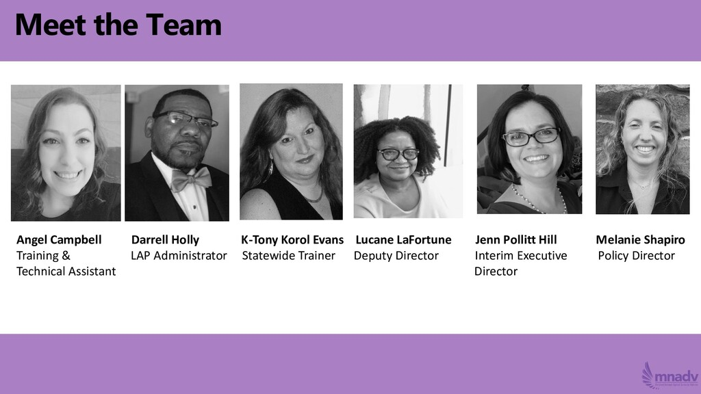 Meet the Team Angel Campbell Darrell Holly K-To...