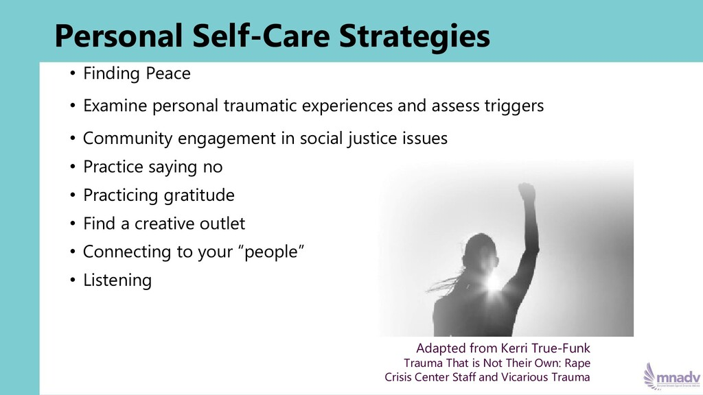 Personal Self-Care Strategies • Finding Peace •...