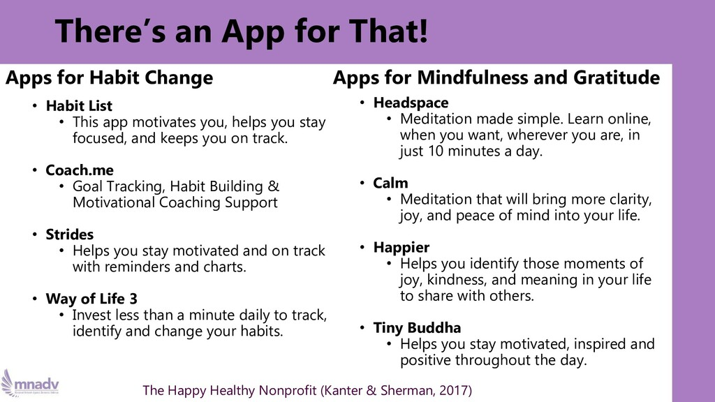There's an App for That! Apps for Habit Change ...