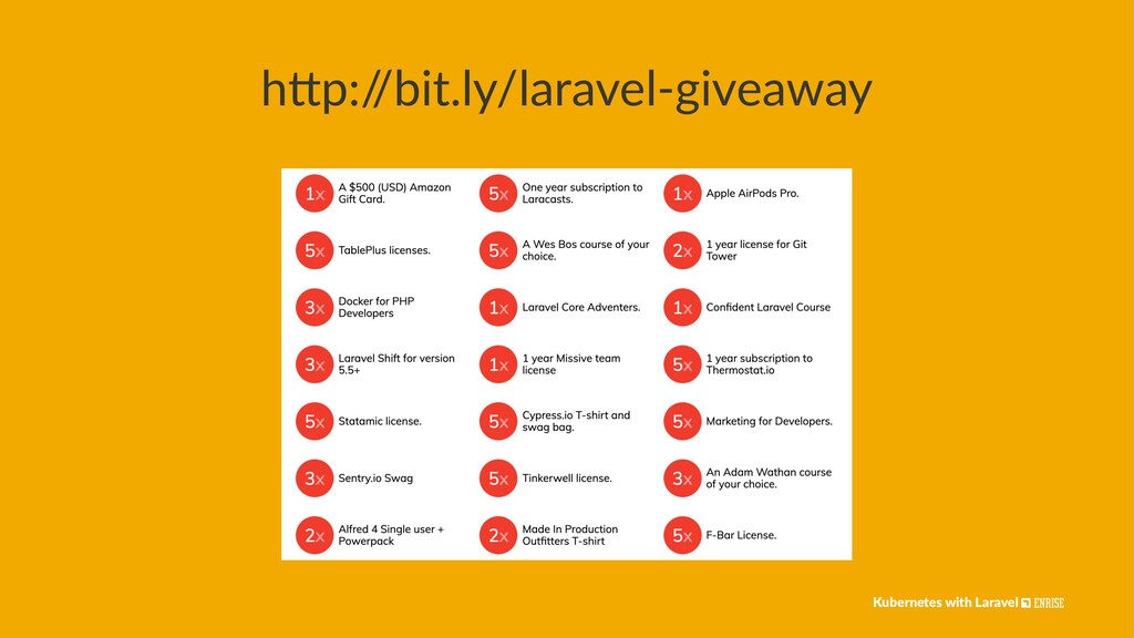 """h""""p:/ /bit.ly/laravel-giveaway Kubernetes with ..."""