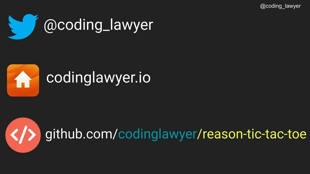 @coding_lawyer @coding_lawyer codinglawyer.io g...