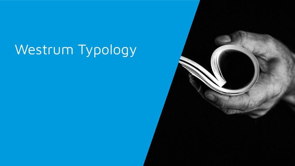 Westrum Typology