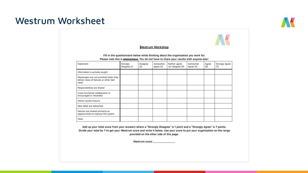 Westrum Worksheet