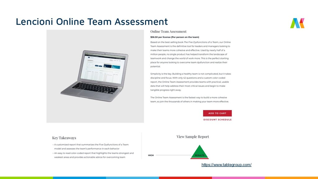 Lencioni Online Team Assessment https://www.tab...
