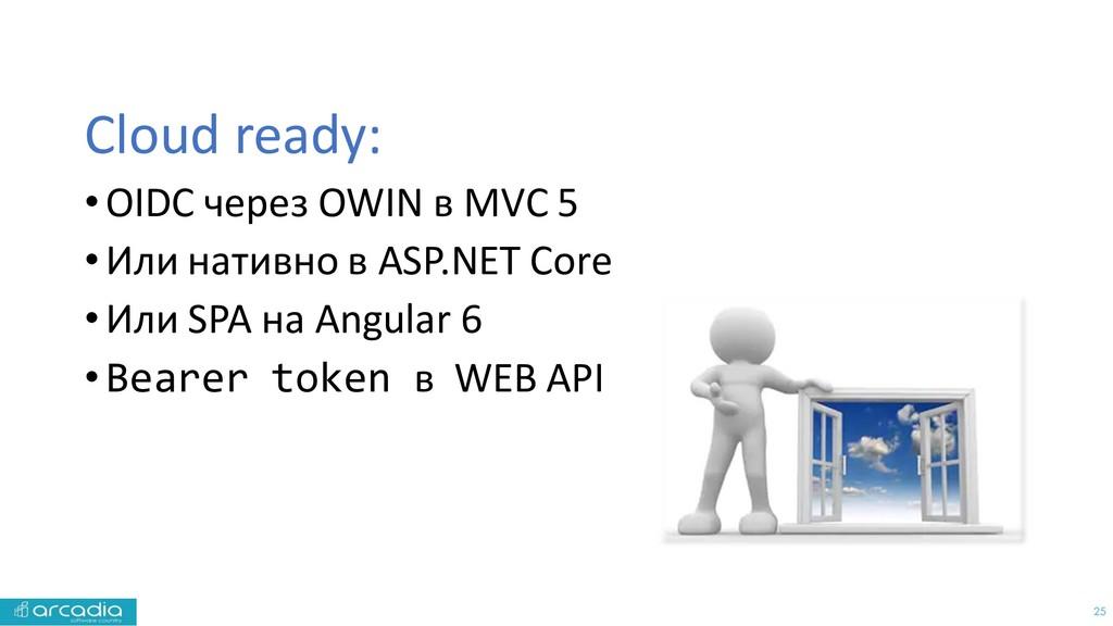 25 Cloud ready: •OIDC через OWIN в MVC 5 •Или н...