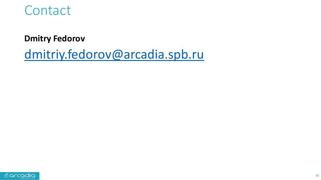 Contact Dmitry Fedorov dmitriy.fedorov@arcadia....