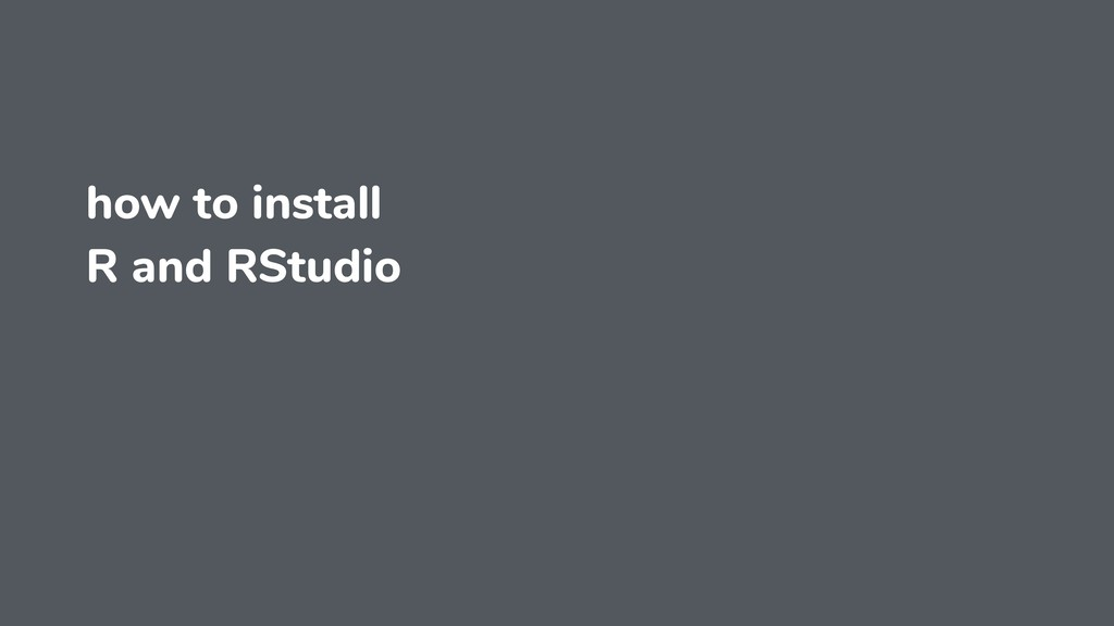 how to install R and RStudio