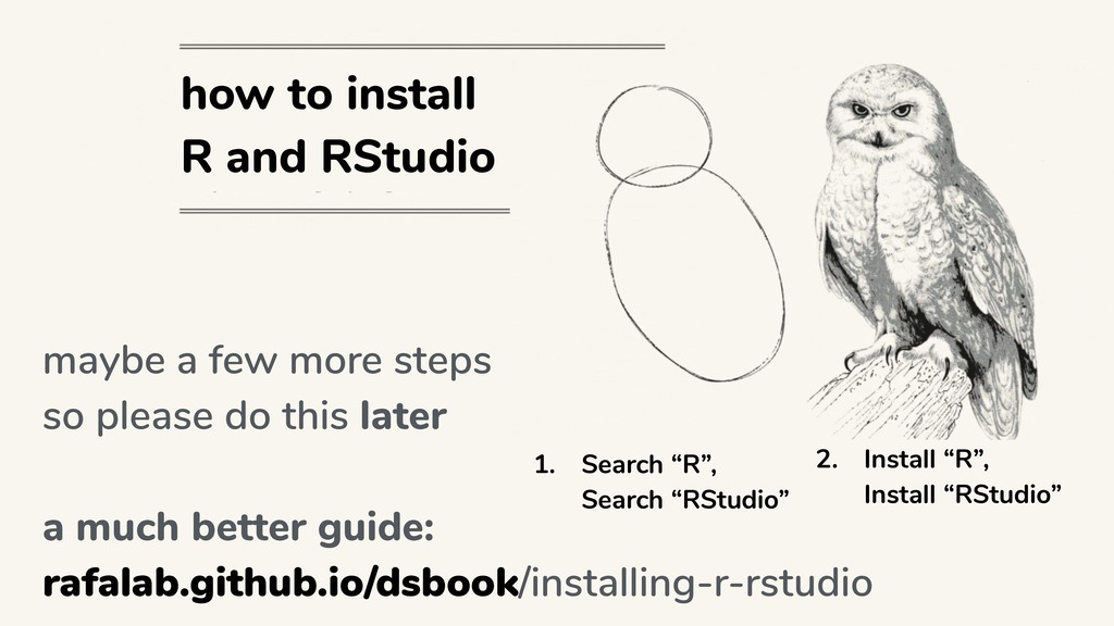 """how to install R and RStudio 1. Search """"R"""",  S..."""